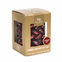 Herringbone with Cinnamon Chai Petite Gift Set WoodWick Candle