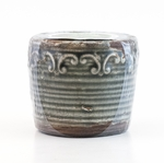 CLOSEOUT - Hibiscus Green Tea Vintage Round Pot Swan Creek Candle (Color: Pewter) | Swan Creek Candles Closeouts