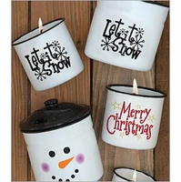 NEW! - Holiday Enamelware Candles