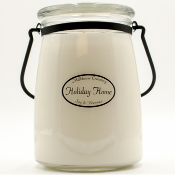Holiday Home 22 oz. Butter Jar by Milkhouse Candle Creamery