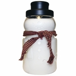 CLOSEOUT - Holiday Homecoming 30 oz. Large Snowman Jar by A Cheerful Giver | Closeouts by A Cheerful Giver