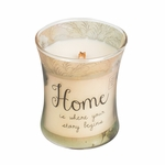 CLOSEOUT - Home Vanilla Bean Inspirational Hourglass WoodWick Candle | Discontinued & Seasonal WoodWick Items!
