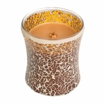 CLOSEOUT - NEW! - Hot Toddy Mosaic Hourglass WoodWick Candle | Discontinued & Seasonal WoodWick Items!
