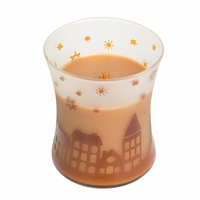 CLOSEOUT - Hot Toddy Scenic Hourglass WoodWick Candle