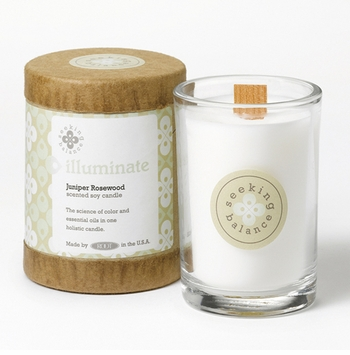 Illuminate (Juniper Rosewood) Seeking Balance 6.5 oz. Candle by Root