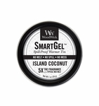 CLOSEOUT - Island Coconut Smart Gel Spill-Proof Warmer Tin by WoodWick Candle | Discontinued & Seasonal WoodWick Items!
