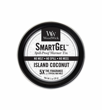 Island Coconut Smart Gel Spill-Proof Warmer Tin by WoodWick Candle