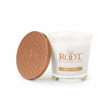 Japanese Cedarwood 6.3 oz. Small Honeycomb Veriglass Candle by Root