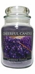 Lavender Vanilla 24 oz. Cheerful Candle by A Cheerful Giver | Cheerful Candle 24 oz. Jars by A Cheerful Giver