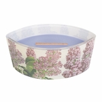 CLOSEOUT-Lilac Decal Ellipse WoodWick Candle with HearthWick Flame | Discontinued & Seasonal WoodWick Items!