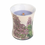 CLOSEOUT-Lilac Decal Hourglass WoodWick Candle | Discontinued & Seasonal WoodWick Items!