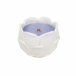 CLOSEOUT-Lilac Figural Flower Ceramic WoodWick Candle | Discontinued & Seasonal WoodWick Items!
