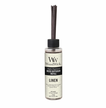 Linen WoodWick 4 oz. Reed Diffuser REFILL
