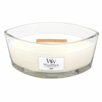 Linen WoodWick Candle 16 oz. HearthWick Flame | HearthWick Ellipse Glass Candles