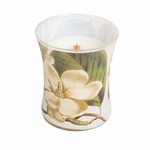 CLOSEOUT-Magnolia Decal Hourglass WoodWick Candle | Discontinued & Seasonal WoodWick Items!