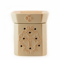Matte Ivory and Brushed Gold Glory Radiant Fragrance Warmer