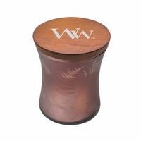 NEW! - Medium Dancing Glass Fireside WoodWick Candle with Lid