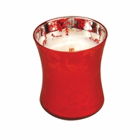 NEW! - Medium Dancing Glass Welcome Christmas WoodWick Candle