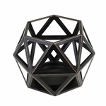 Medium Geometric Candle Holder by Virginia Gift Brands | WoodWick Accessories