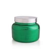 CLOSEOUT - No. 6 Volcano 48 oz. Metallic Green Holiday Jar Candle by Capri Blue