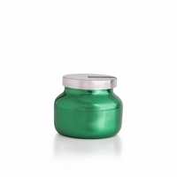 CLOSEOUT - No. 6 Volcano 8 oz. Metallic Green Holiday Jar Candle by Capri Blue