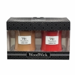 CLOSEOUT - Oatmeal Cookie / Cranberry Cider 10 oz. Candle 2-Pack Gift Set by WoodWick | Discontinued & Seasonal WoodWick Items!