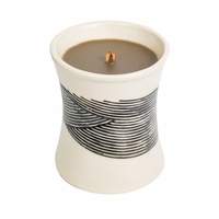 NEW! - Oudwood Ceramic Hourglass WoodWick Candle