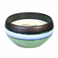 Pacific Driftwood Large Round RibbonWick Candle