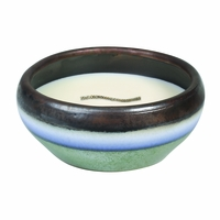 CLOSEOUT - Pacific Driftwood Medium Round RibbonWick Candle