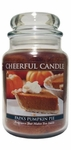 Papa's Pumpkin Pie 24 oz. Cheerful Candle by A Cheerful Giver | Cheerful Candle 24 oz. Jars by A Cheerful Giver