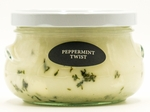 CLOSEOUT - Peppermint Twist 12 oz. Southern Charm Swan Creek Jar Candle | Swan Creek Candles Closeouts
