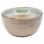 Petals of Paradise Swan Creek Ribbed Flat Rim Bowl Candle (Color: Cream) | Swan Creek Ribbed Pottery Collection