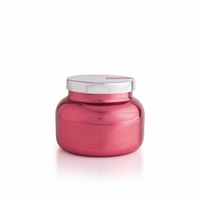 CLOSEOUT - Pink Peppermint 19 oz. Metallic Pink Holiday Jar Candle by Capri Blue