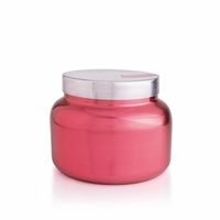 CLOSEOUT - Pink Peppermint 48 oz. Metallic Pink Holiday Jar Candle by Capri Blue