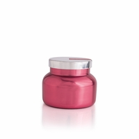 CLOSEOUT - Pink Peppermint 8 oz. Metallic Pink Holiday Jar Candle by Capri Blue