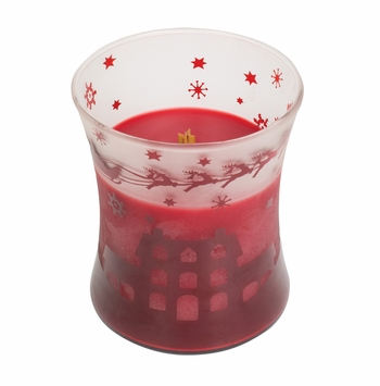 CLOSEOUT - Pomegranate Scenic Hourglass WoodWick Candle