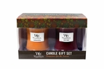 CLOSEOUT - Pumpkin Butter / Apple Crisp 10 oz. Candle 2-Pack Fall Gift Set by WoodWick | Discontinued & Seasonal WoodWick Items!