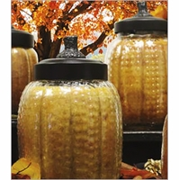 Pumpkin Jar Candles by A Cheerful Giver