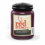 Red Stag Black Cherry 26 oz. Large Jar Candleberry Candle | Jim Beam & Buffalo Trace by Candleberry