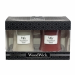 CLOSEOUT - Redwood / Fireside 10 oz. Candle 2-Pack Gift Set by WoodWick | Discontinued & Seasonal WoodWick Items!