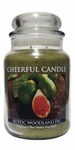 Rustic Woodland Fig 24 oz. Cheerful Candle by A Cheerful Giver | Cheerful Candle 24 oz. Jars by A Cheerful Giver