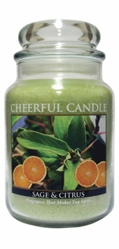 Sage & Citrus 24 oz. Cheerful Candle by A Cheerful Giver