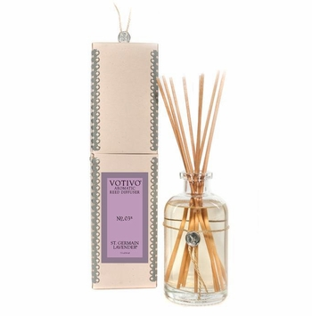Saint Germain Lavender Aromatic Reed Diffuser Votivo Candle