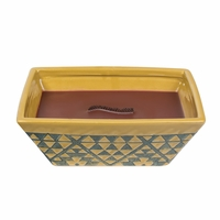 Sandalwood Fig Southwest Rectangle Premium RibbonWick Candle