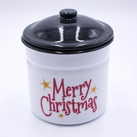 CLOSEOUT - Seasons Greetings Festive Holiday Swan Creek Large Canister Candle