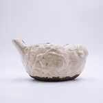 NEW! - Silver Spruce & Cedar Tips Holiday Pottery Bird Swan Creek Candle (Color: White) | Swan Creek Bird Pottery Candles