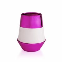 CLOSEOUT - Smoked Vanilla 19 oz. Fuschia Deco Tumbler Candle by Capri Blue