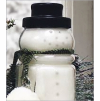 Snowman Jar Candles by A Cheerful Giver