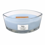 Soft Chambray WoodWick Candle 16 oz.  HearthWick Flame | HearthWick Ellipse Glass Candles