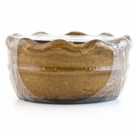CLOSEOUT-Southern Sweet Tea Ruffled Bowl Swan Creek Candle (Color: Brown) | Swan Creek Ruffled Pottery Collection